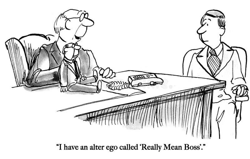Beteken de werkgever een marionet houdt vector illustratie