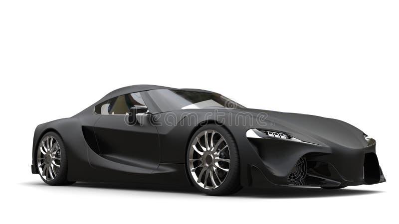Beteken steen zwarte super sportwagen vector illustratie