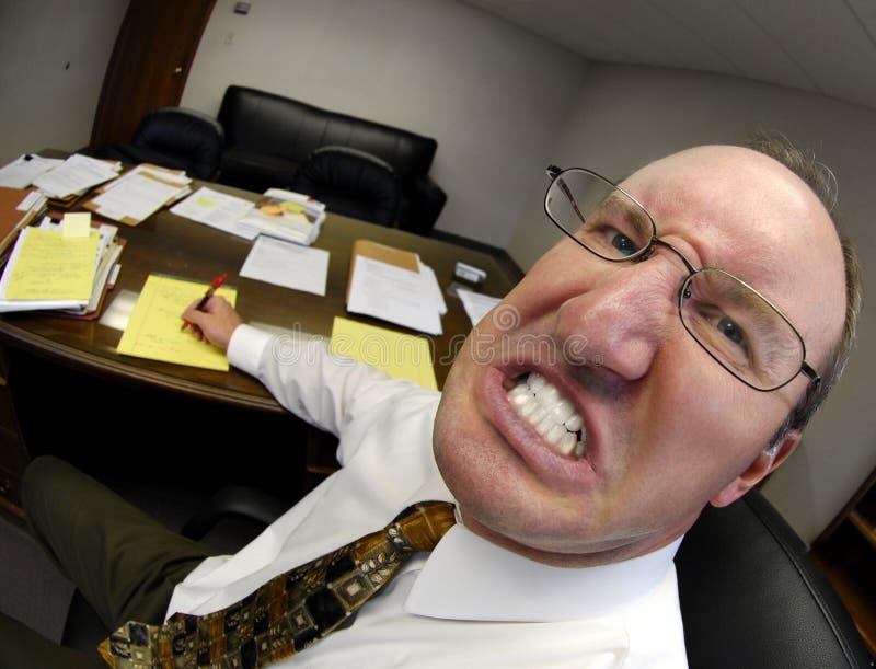 Beteken Werkgever in Bureau stock foto's