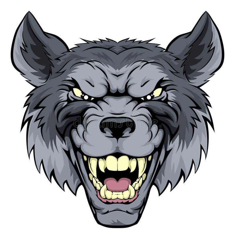 Beteken Wolf Mascot royalty-vrije illustratie