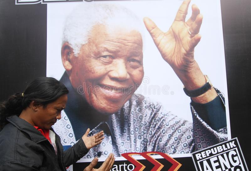 Beten Sie für Mandela lizenzfreie stockfotografie