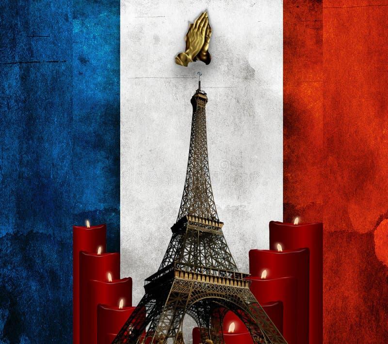 Beten Sie für Paris lizenzfreie stockbilder