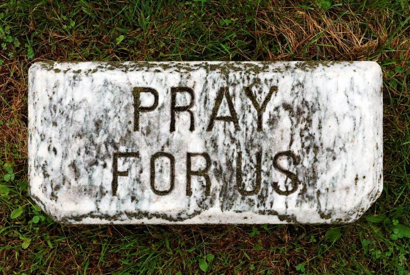 Beten Sie für uns lizenzfreie stockfotos