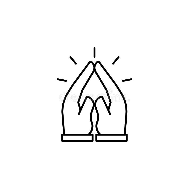 beten Sie, Tod, Handentwurfsikone ausführlicher Satz Todesillustrationsikonen Kann f?r Netz, Logo, mobiler App, UI, UX verwendet  lizenzfreie abbildung