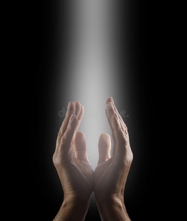 Beten, zum des Geistes zu erahnen lizenzfreies stockbild