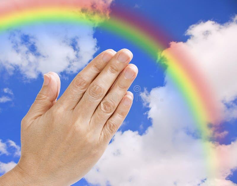 Betende Hände lizenzfreies stockbild