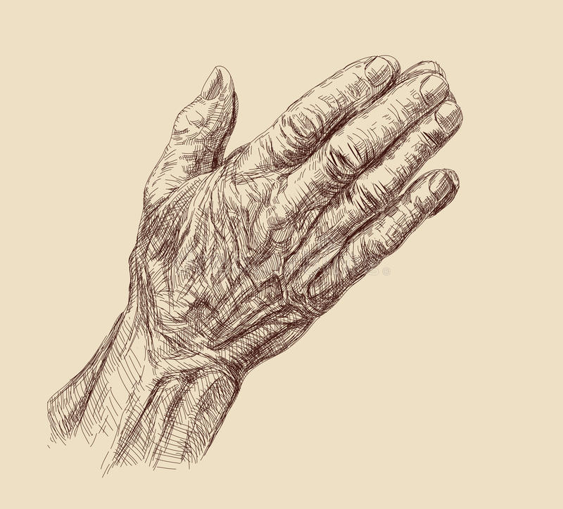 Betende Hände stock abbildung
