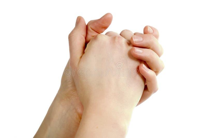 Betende Hände stockbild