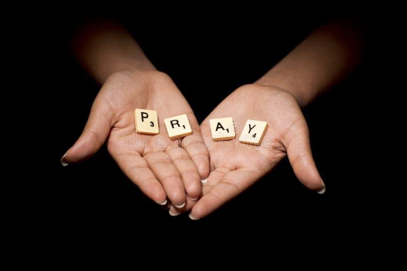 Betende Hände stockfotografie