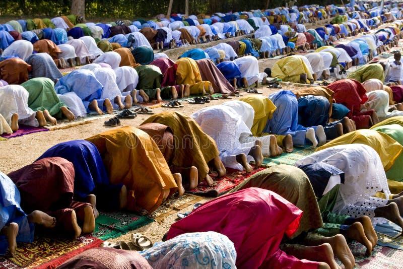 Betende Moslems lizenzfreie stockbilder