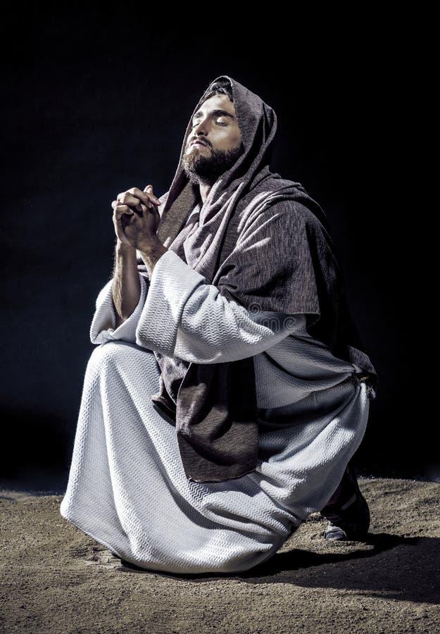 Betendes Freien Jesus Christs stockbilder