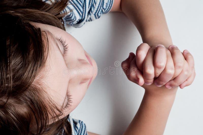 Betendes Kind lizenzfreies stockfoto