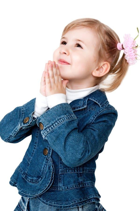 Betendes Mädchen stockfotos