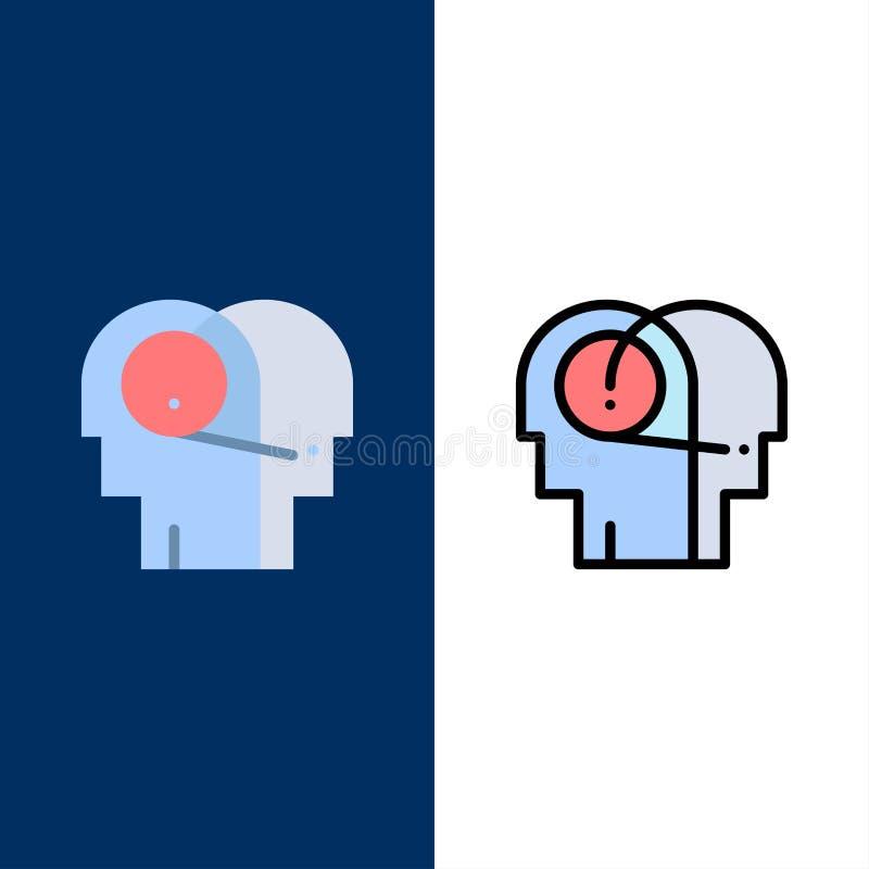 Beter, Mededeling, Hoorzitting, Menselijke Pictogrammen Vlak en Lijn vulde Pictogram Vastgestelde Vector Blauwe Achtergrond vector illustratie
