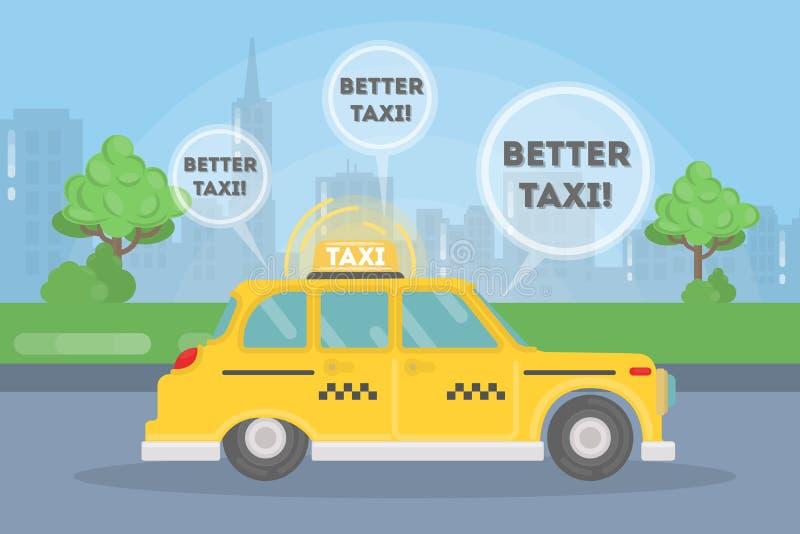 Beter neem taxi stock illustratie