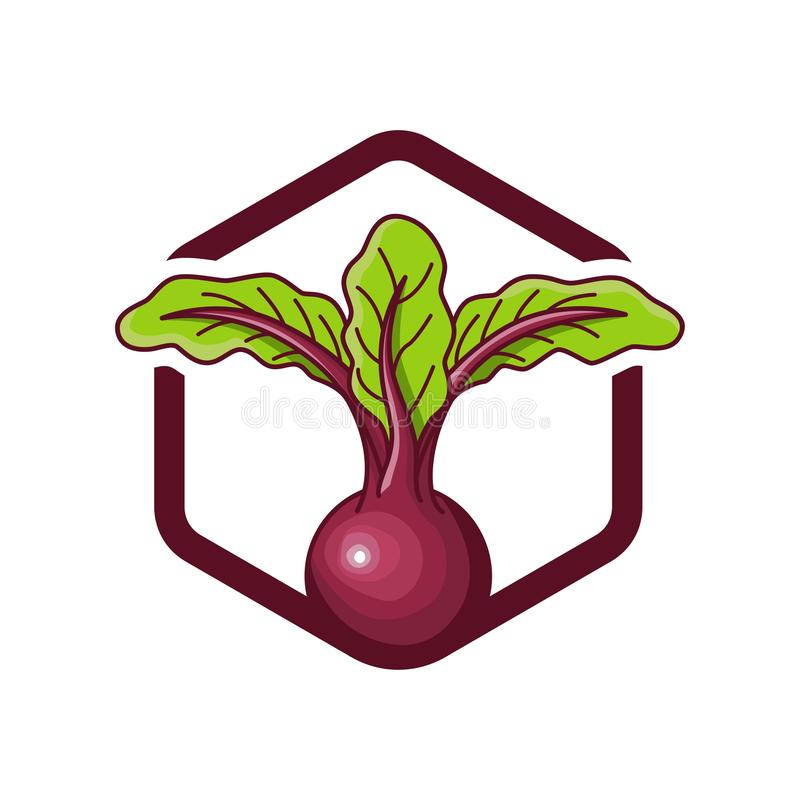 Beterrabas do projeto do logotipo ilustração royalty free
