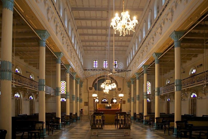 Beth El Synagogue Kolkata, Indien arkivfoto