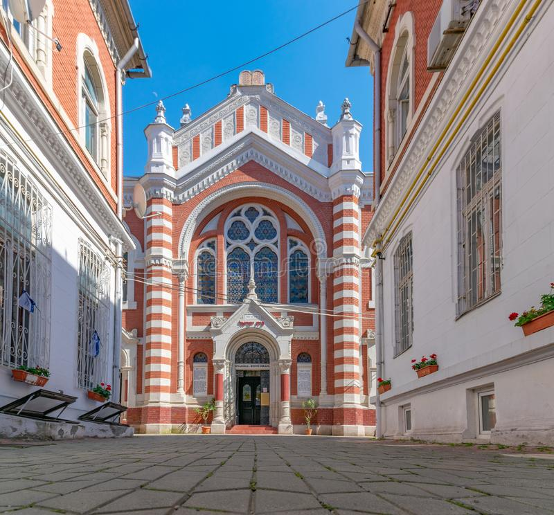 Beth Israel Synagogue in Brasov on a sunny summer day in Brasov, Romania stock images