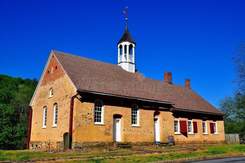 Bethabara, NC: 1788 Gemeinhaus Moravian Church royalty free stock photo