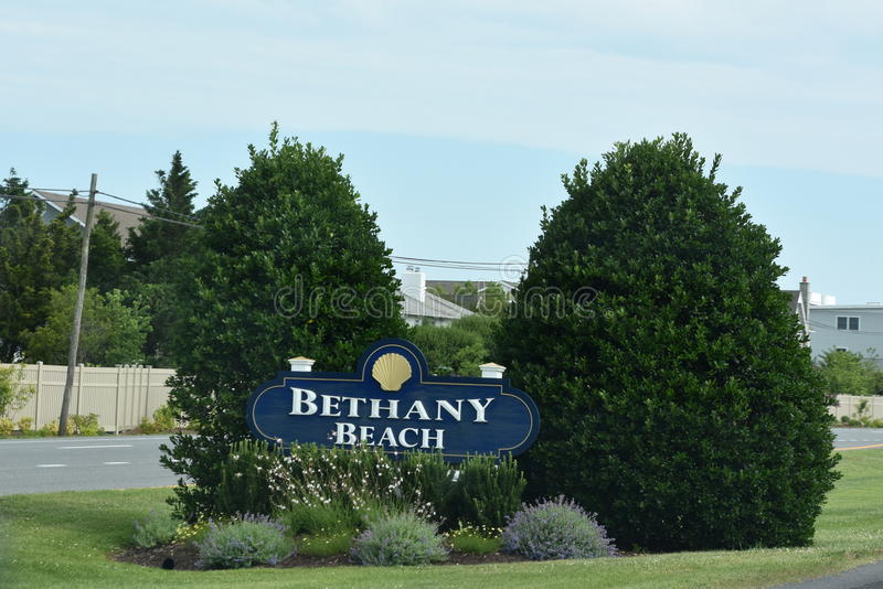 Bethany Beach in Delaware. It is a popular regional vacation destination stock photo