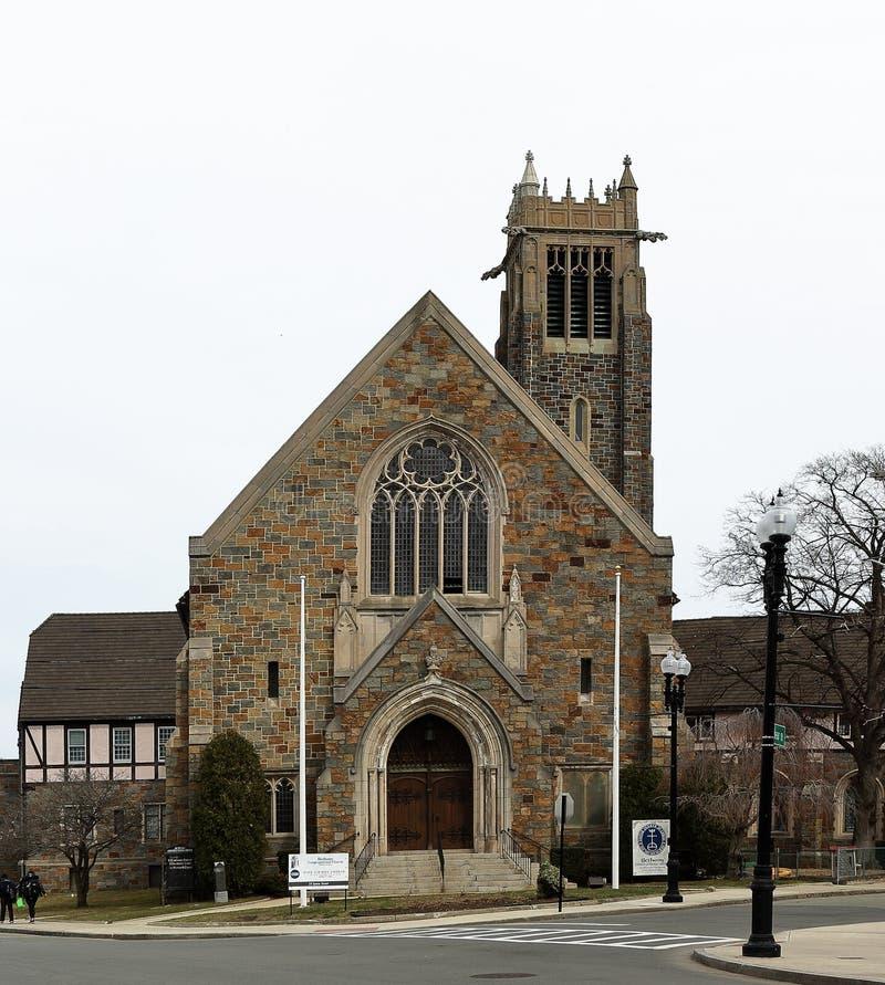 Bethany Congregational kościół w Quincy, Massachusetts fotografia royalty free