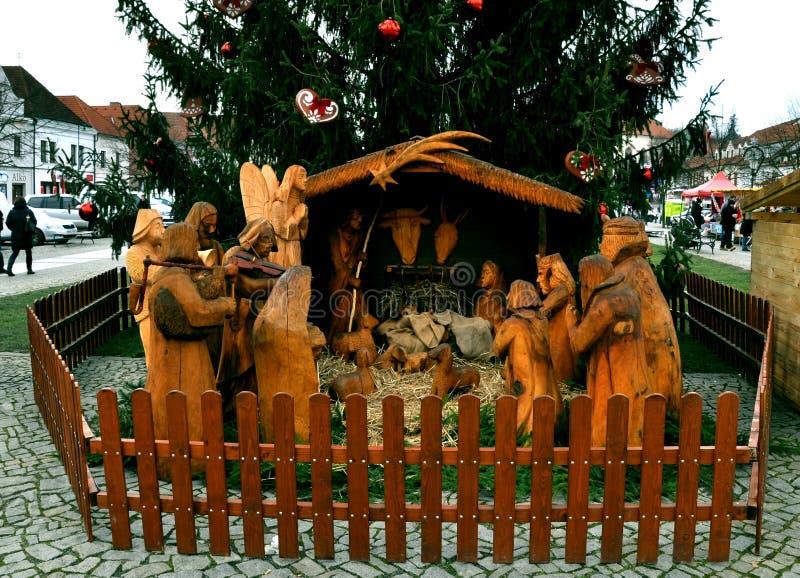 Bethelem découpé fait main de christmass images stock