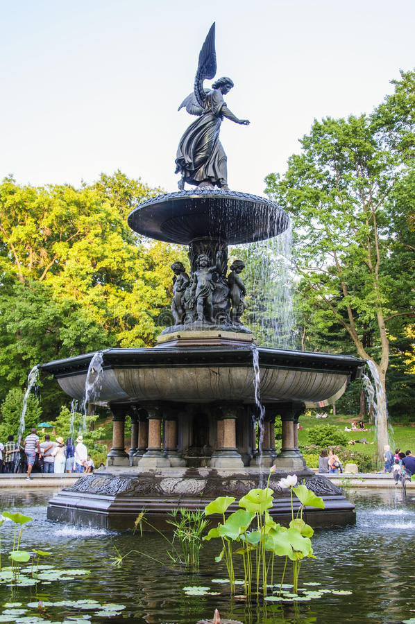 Bethesda Fountain royalty-vrije stock afbeelding