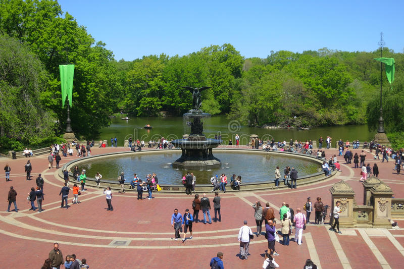 Bethesda Fountain in New York City royalty free stock image