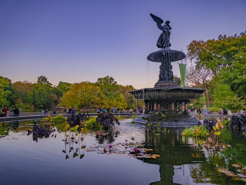 Bethesda Fountain in Central park, New York, USA. Bethesda Fountain in Central park, Manhattan, New York, USA royalty free stock images