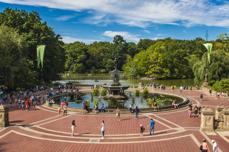 Bethesda Fountain dans le Central Park à New York photographie stock libre de droits