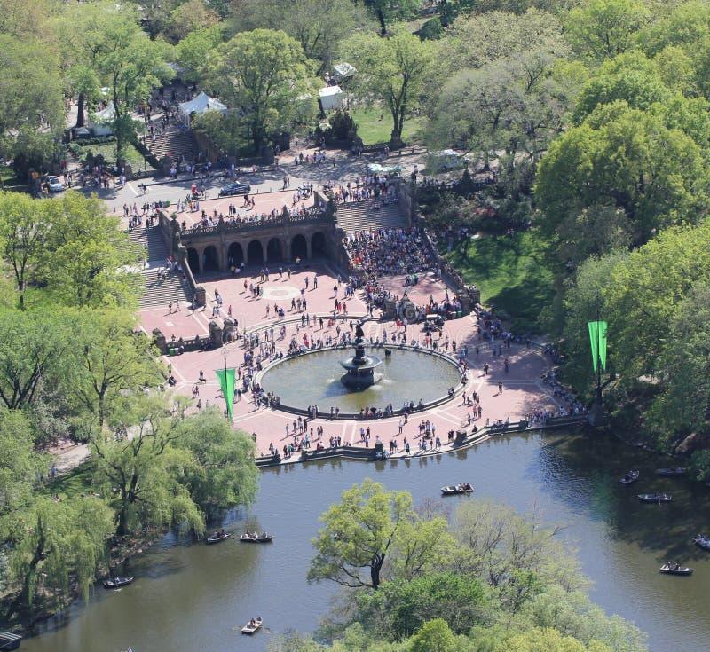 Bethesda Fountain en Terras stock foto's