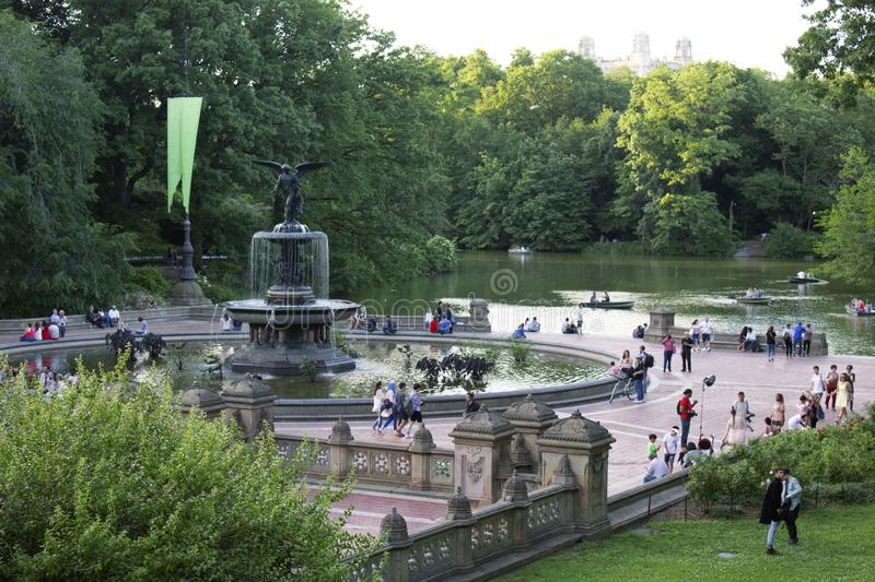 Bethesda Fountain et terrasse dans le Central Park, New York City images libres de droits