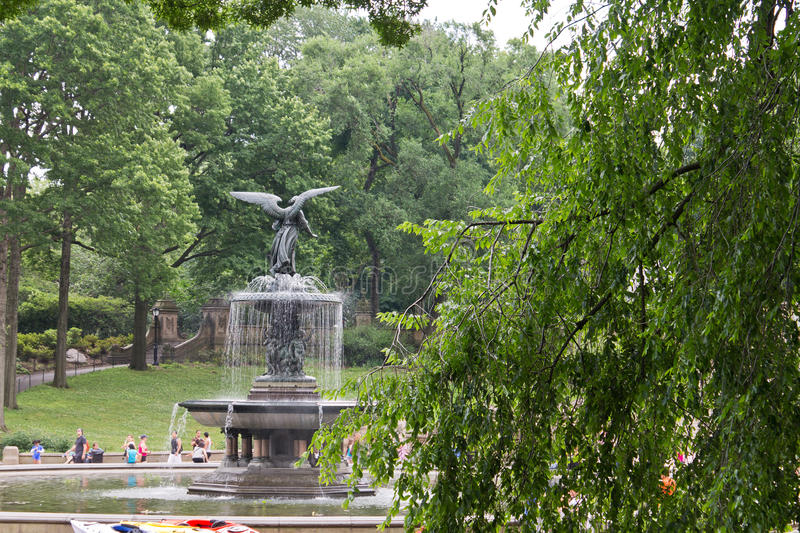 Bethesda Fountain New York City. The Bethesda Fountain with its angel statue in Central Park, Manhattan Island, New York City, United States royalty free stock images