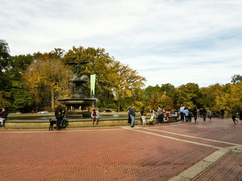Bethesda Fountain no Central Park em NYC foto de stock royalty free