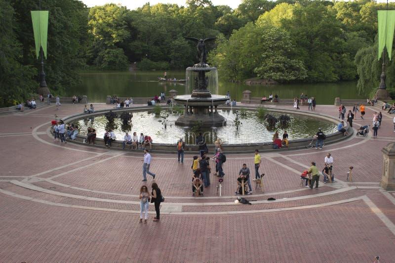 Bethesda Fountain und die Terrasse im Central Park, New York City stockfoto