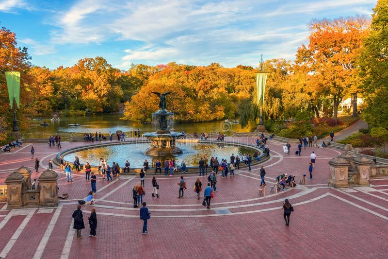 Bethesda Fountain View image stock