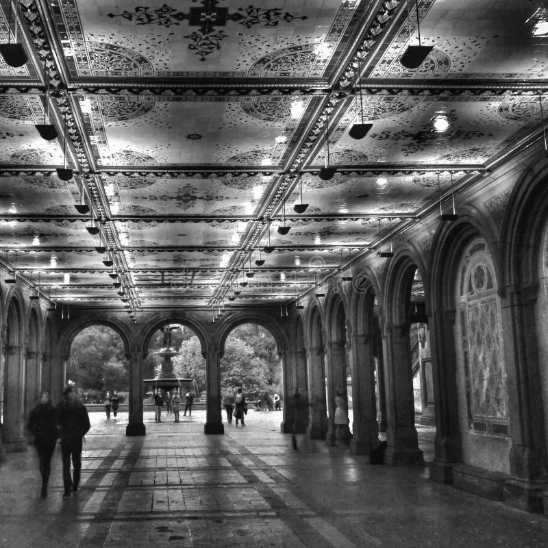 Bethesda Terrace Central Park stockfoto