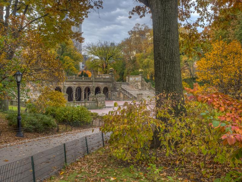 Bethesda Terrace Central Park fotografia de stock