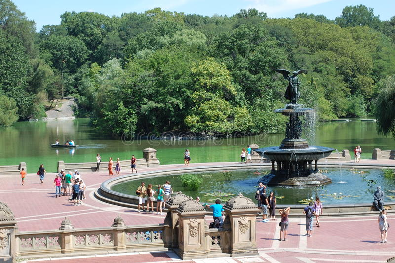 Bethesda Terrace in Central Park, New York City royalty free stock photos