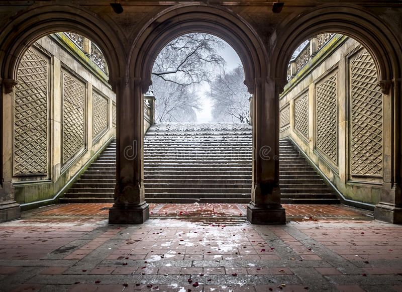Bethesda Terrace Central Park, New York City foto de stock