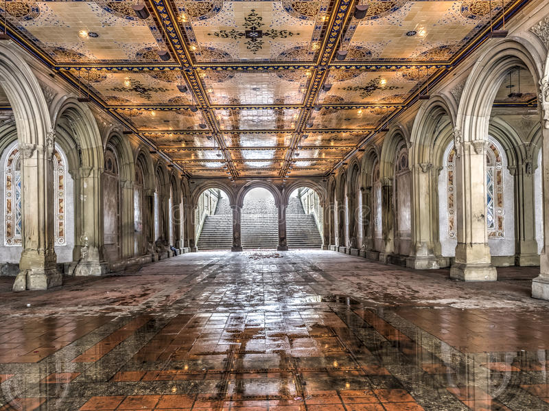 Bethesda Terrace Central Park, New York City royalty free stock images