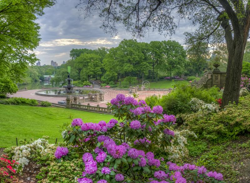 Bethesda Terrace Central Park fotografie stock libere da diritti