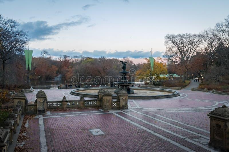 Bethesda Terrace e fontana in Central Park - New York, U.S.A. fotografie stock