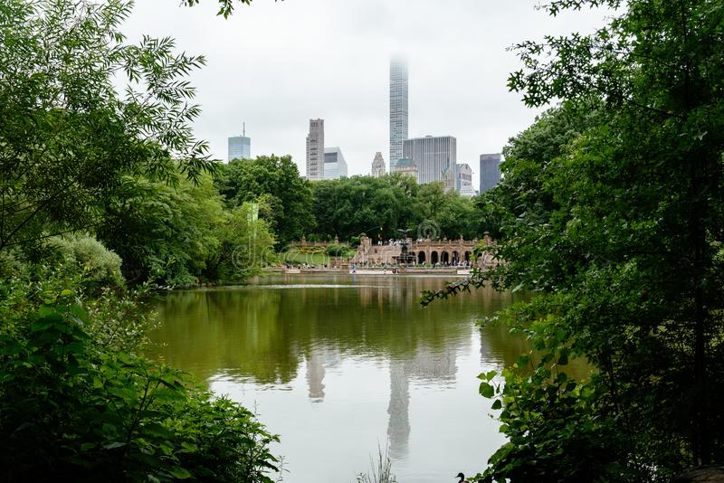 Bethesda Terrace e fonte no Central Park em New York imagem de stock royalty free