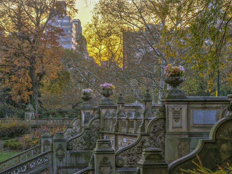 Bethesda Terrace e fonte imagem de stock royalty free