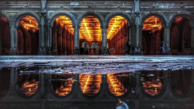 Bethesda Terrace im Central Park lizenzfreies stockbild