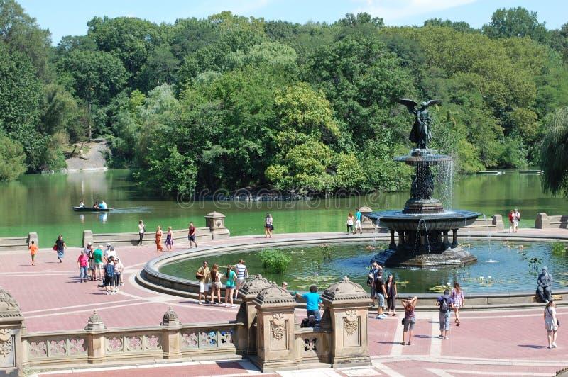 Bethesda-Terrasse in Central Park, New York City lizenzfreie stockfotos