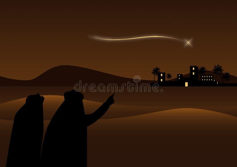 Bethlehem achtergrond vector illustratie