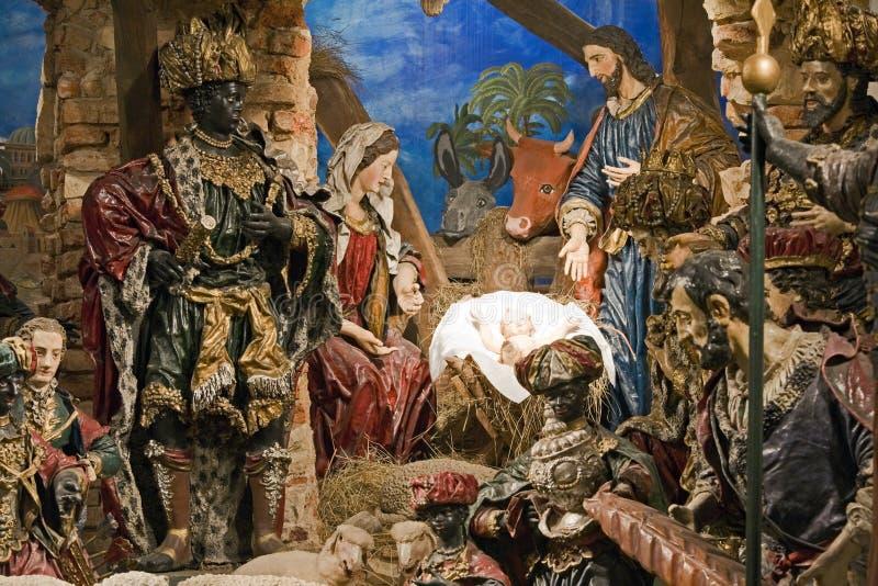 Bethlehem barroco en Praga foto de archivo