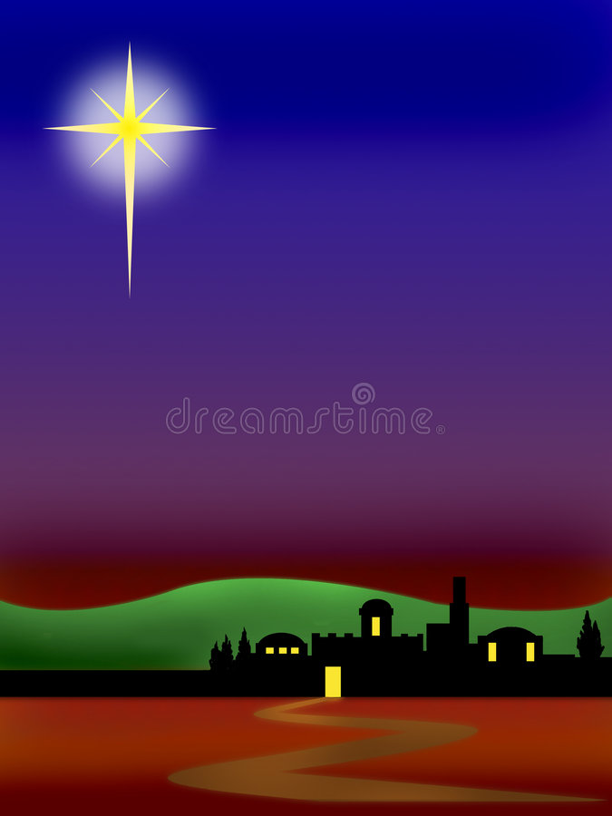 Bethlehem Christmas background vector illustration